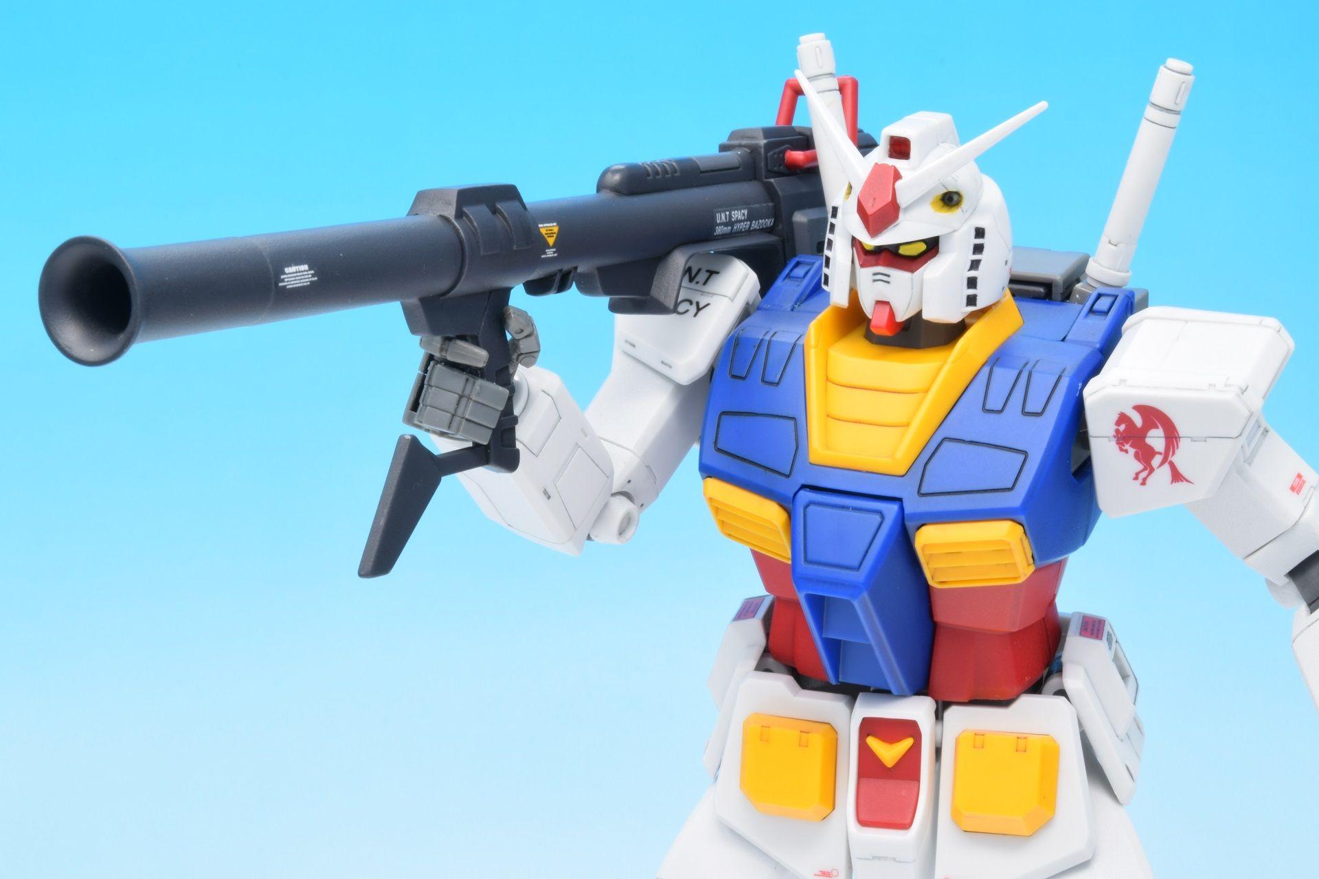MG RX-78-2 ガンダム Ver1.0<2:箱/説明書/塗裝済みパーツ/ゴールドプレート>【プラモデル】 | なん ...