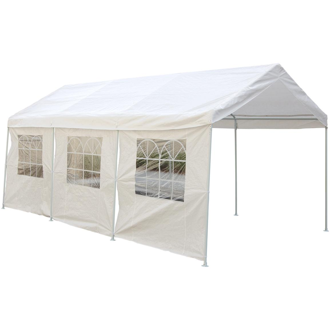 10x20' Canopy Carport with Side Walls