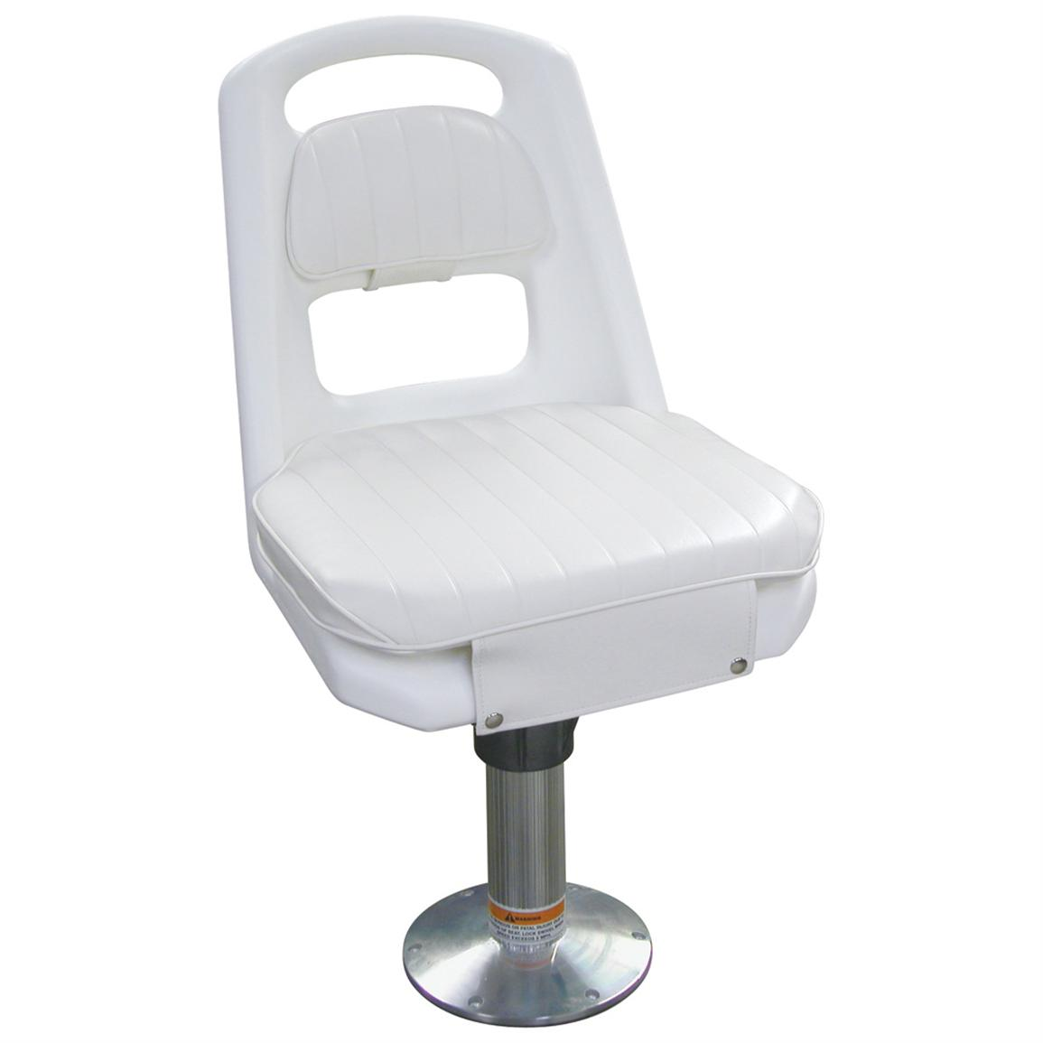 Helm Chairs Wise Offshore Helm Chair With Pedestal White 141417