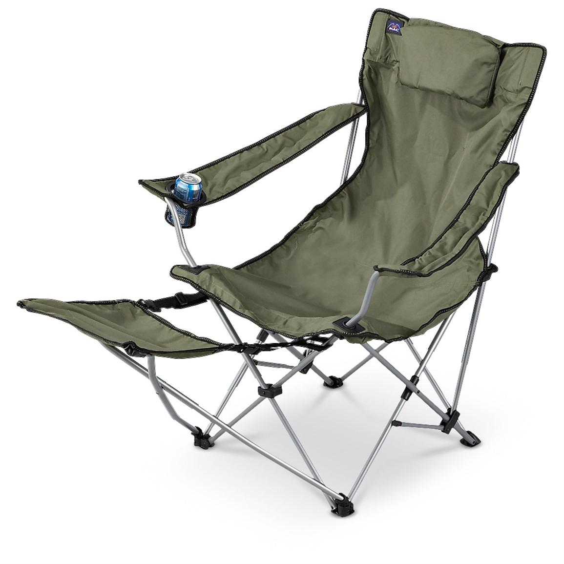 Camping Chair With Footrest Mac Sports Lounger Chair With Footrest 156343 Chairs