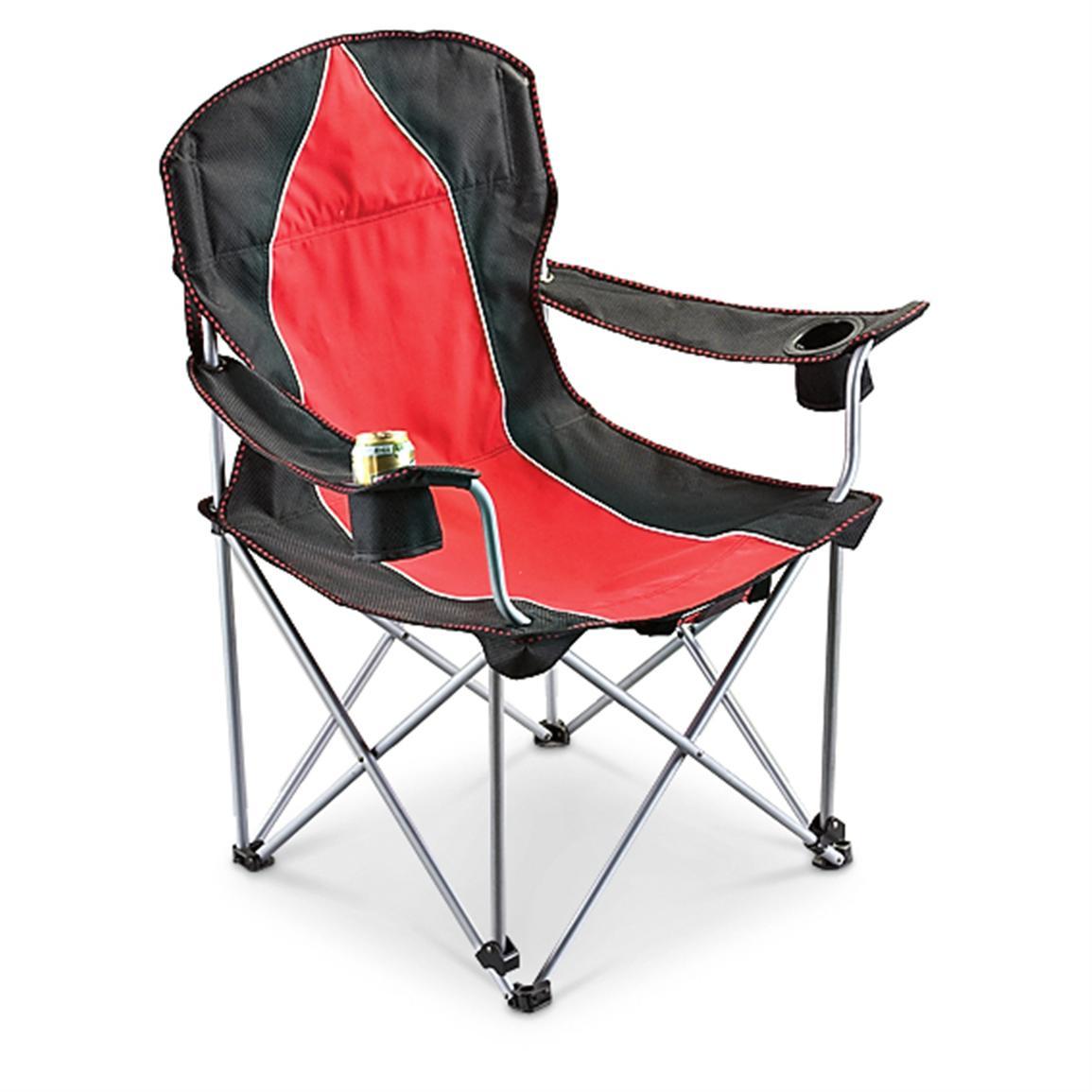 Campfire Chairs Guide Gear Big Daddy Camp Chair Red Black 172570
