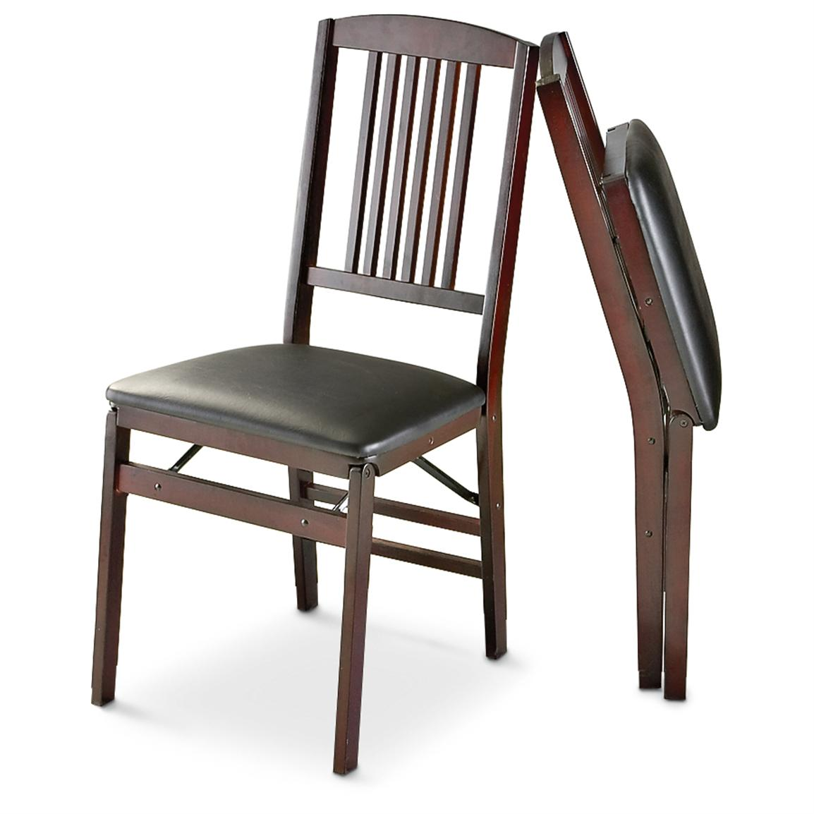 folding chair kitchen office support for sciatica 2 cosco wood mission chairs 179869