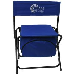 Folding Chair With Cooler Mickey Mouse Chairs Clam 194697 Ice Fishing Gear At