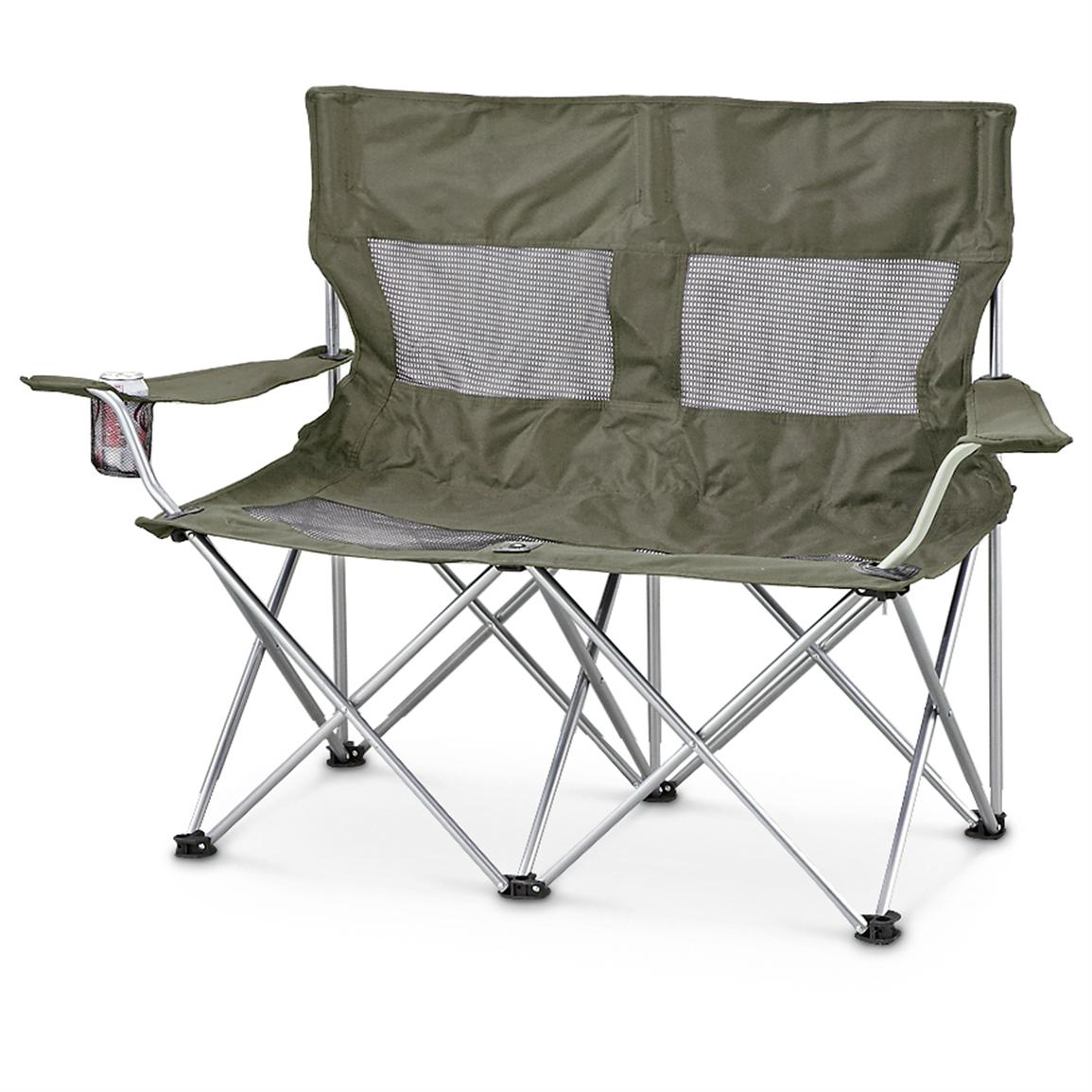 Guide Gear 2  person Foldable Loveseat Green  198416