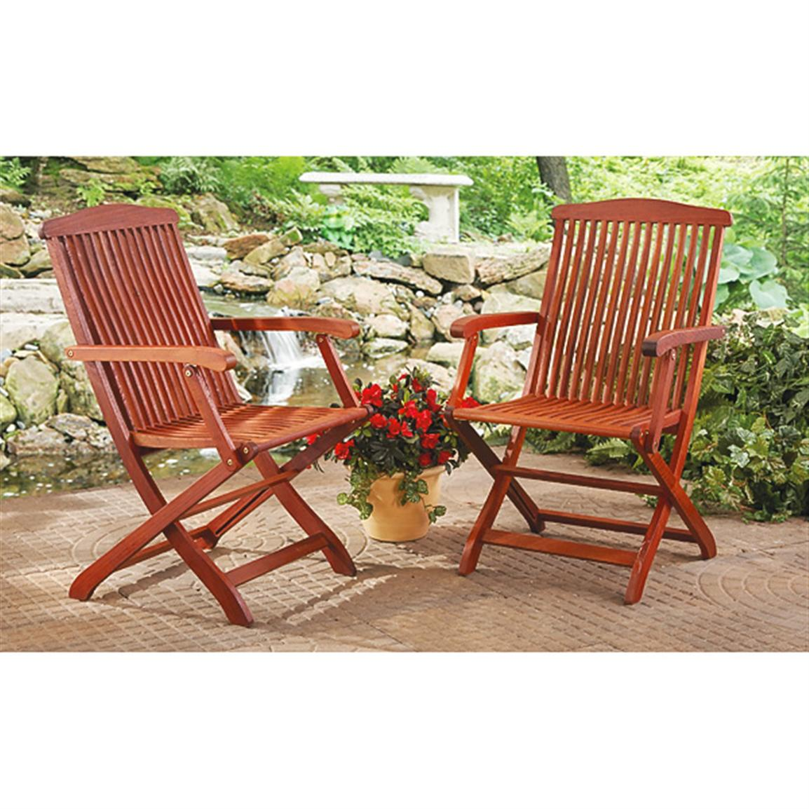 brown wooden folding chairs sling for sale 2 eucalyptus 209783 patio