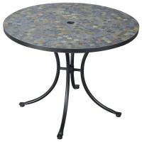 Stone Harbor Slate Tile Top Outdoor Table - 224986, Patio ...