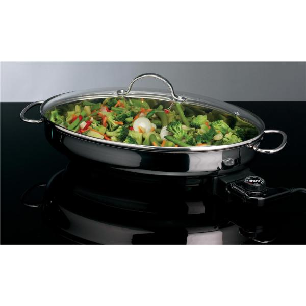 3 - Quart Deni Stainless Steel Electric Skillet Oval