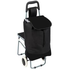 Folding Chair Cart Double Papasan Frame And Cushion Maxam Trolley Bag With 235797 Gear