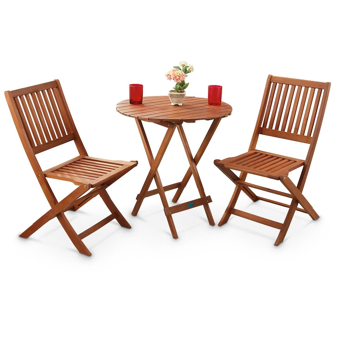 Outside Table And Chairs 3 Pc Outdoor Folding Table And Chairs Set 283209