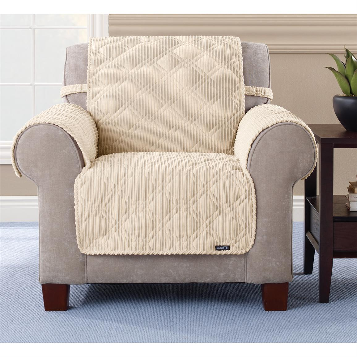 Pet Chair Covers Sure Fit Quilted Corduroy Chair Pet Cover 292844