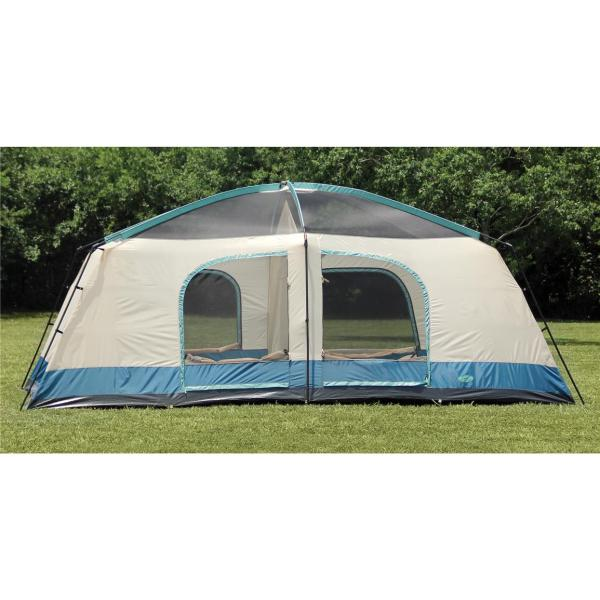 Texsport Blue Mountain 2 - Room Cabin Dome Tent 293799 Tents Sportsman' Guide