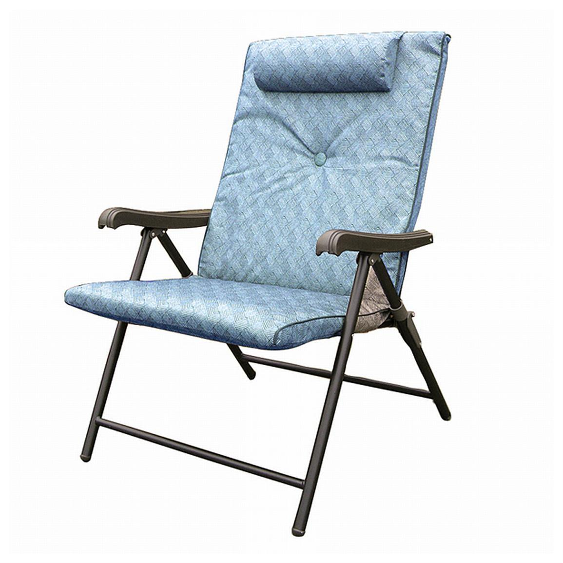 Prime Plus Folding Chair Blue  425486 Chairs at
