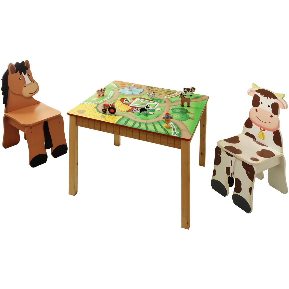 Kids Wooden Table And Chairs Kid 39s Wooden Table And Chair Set From The Teamson Happy