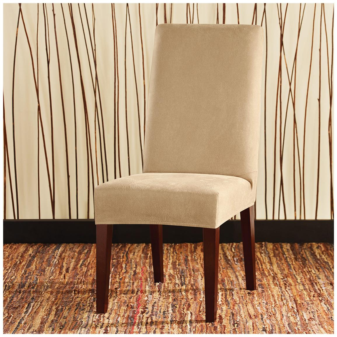 Sure Fit Stretch Leather Shorty Dining Room Chair