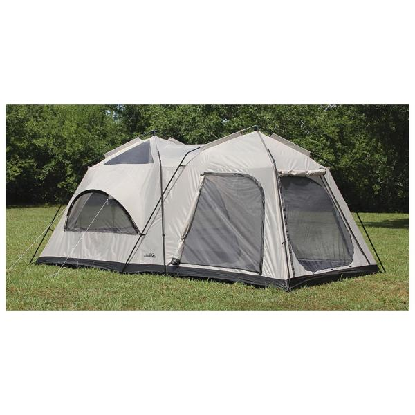 Texsport Twin Peaks 2-room Cabin Dome Tent - 594029 Tents Sportsman' Guide