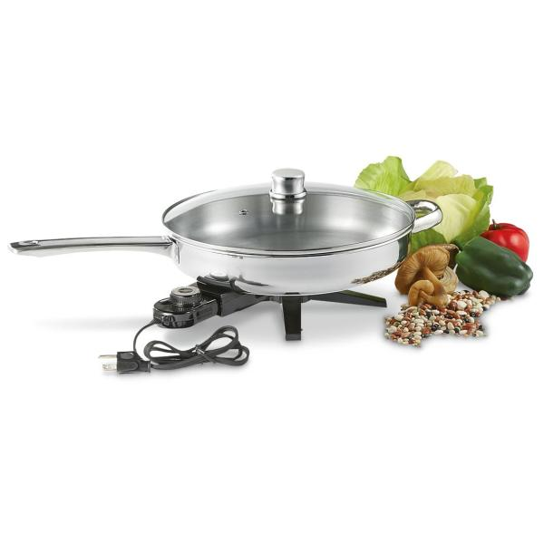 Stainless Steel Electric Skillet - 612001 Kitchen