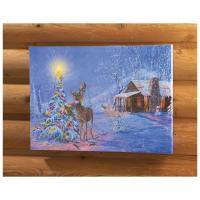 Wild Wings Holiday Lighted Canvas Print