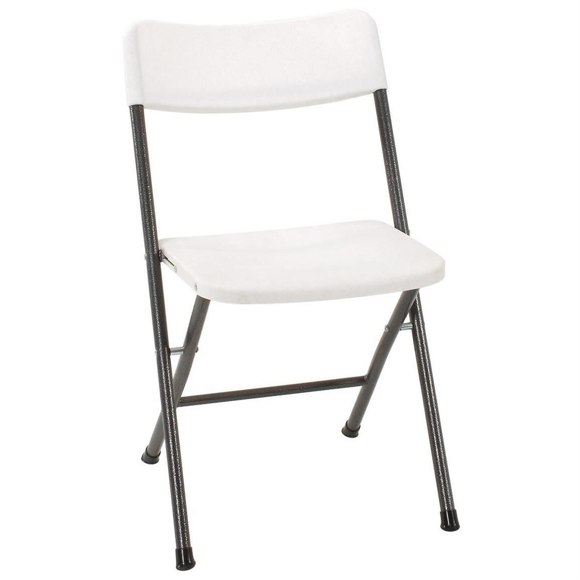 Folding White Chairs 4 Pk Of Cosco White Resin Folding Chairs 618779