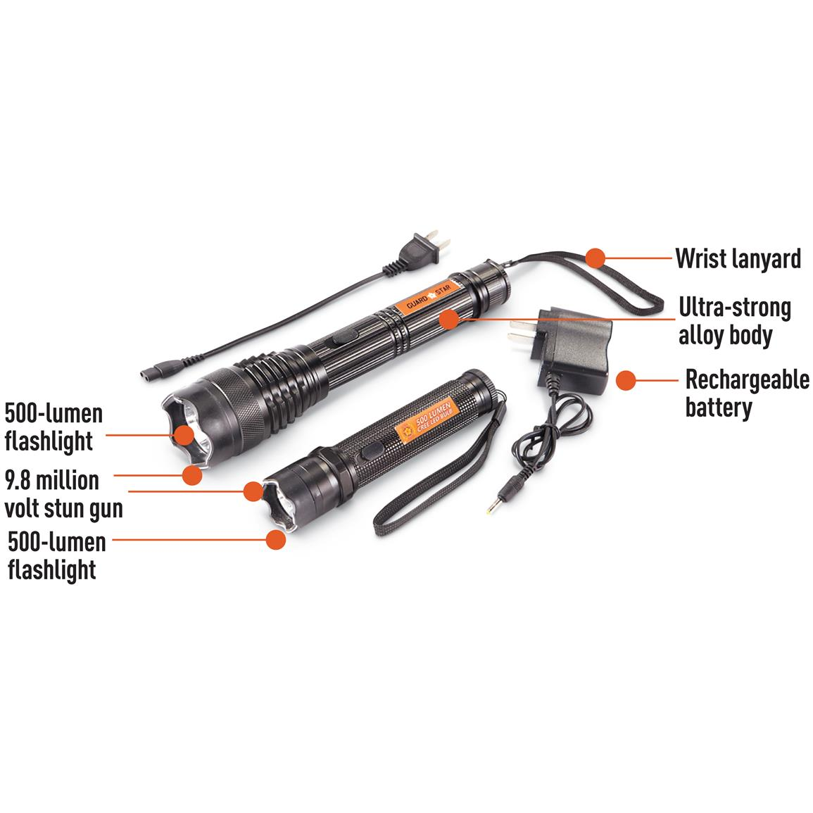 9 8 Million Volt Flashlight Stun Gun