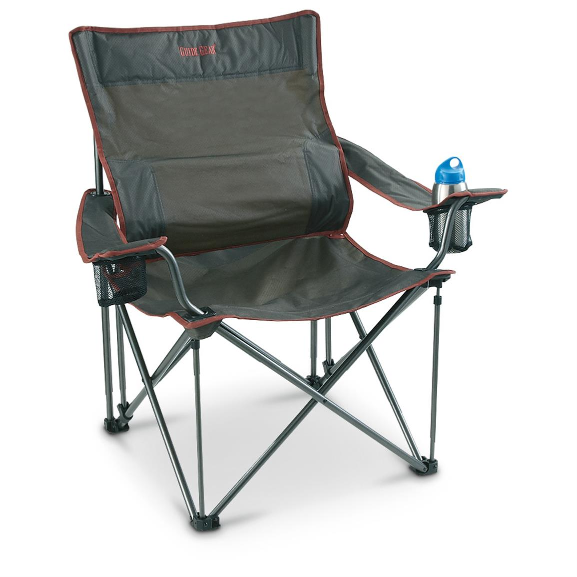 Campfire Chairs Guide Gear Full Back Folding Camping Arm Chair 623494