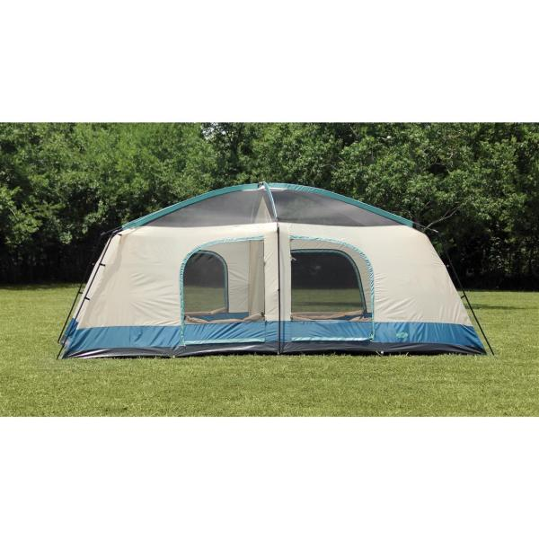 Texsport Blue Mountain 2-room Cabin Dome Tent - 656533 Tents Sportsman' Guide