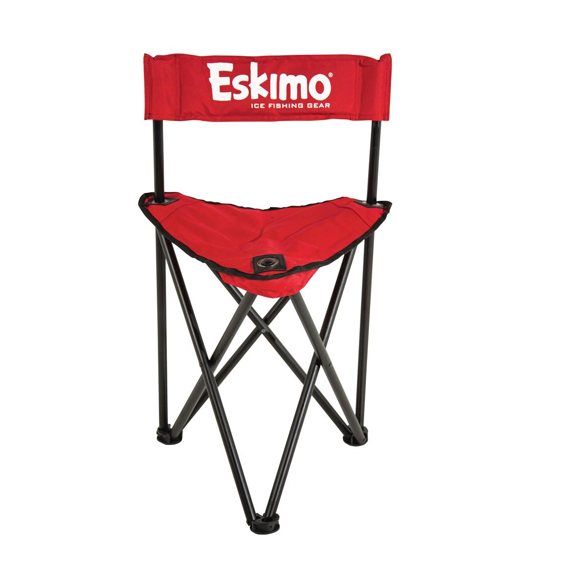 ice fishing chair maplestory patio with nesting ottoman canada eskimo quickflip 1 sled shelter folding