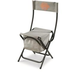 Folding Chair With Cooler Grey Tartan Covers Guide Gear Ice Fishing 676136
