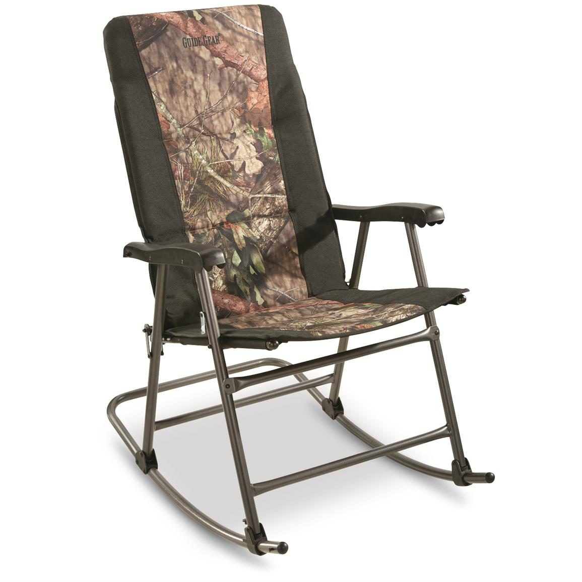 Campfire Chairs Guide Gear Oversized Rocking Camp Chair 500 Lb Capacity