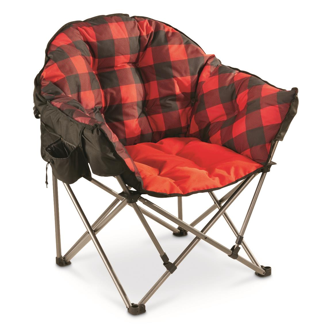 Campfire Chairs Guide Gear Oversized Club Camp Chair 500 Lb Capacity