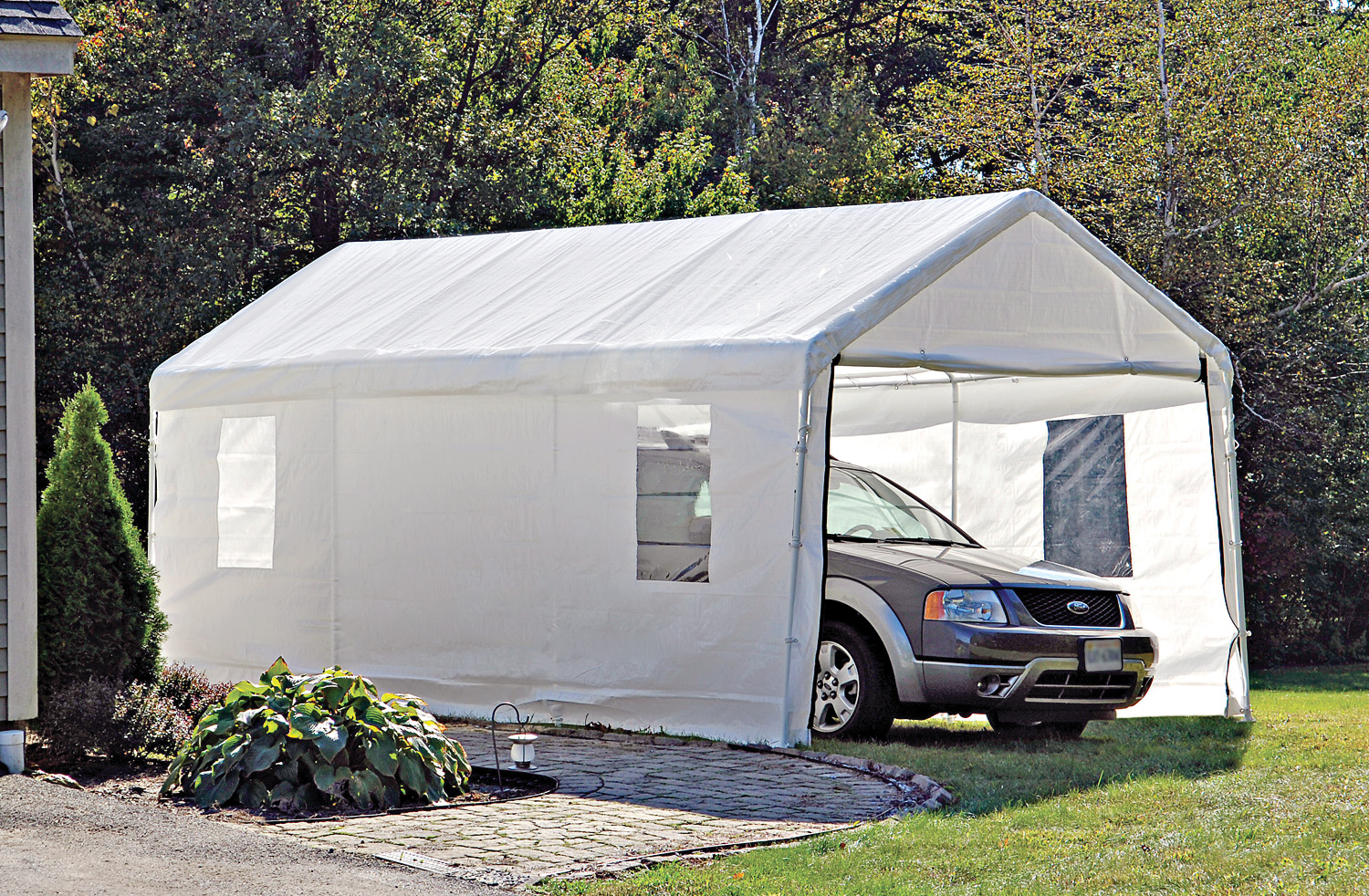 portable garage for cook tent