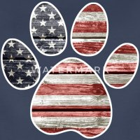 Patriotic Paw Print, American Flag T-Shirt | Spreadshirt