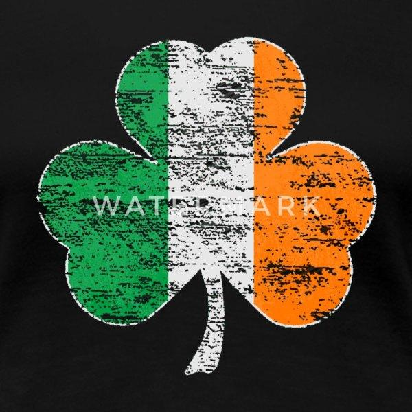 Vintage Distressed Irish Flag Shamrock T-shirt Spreadshirt