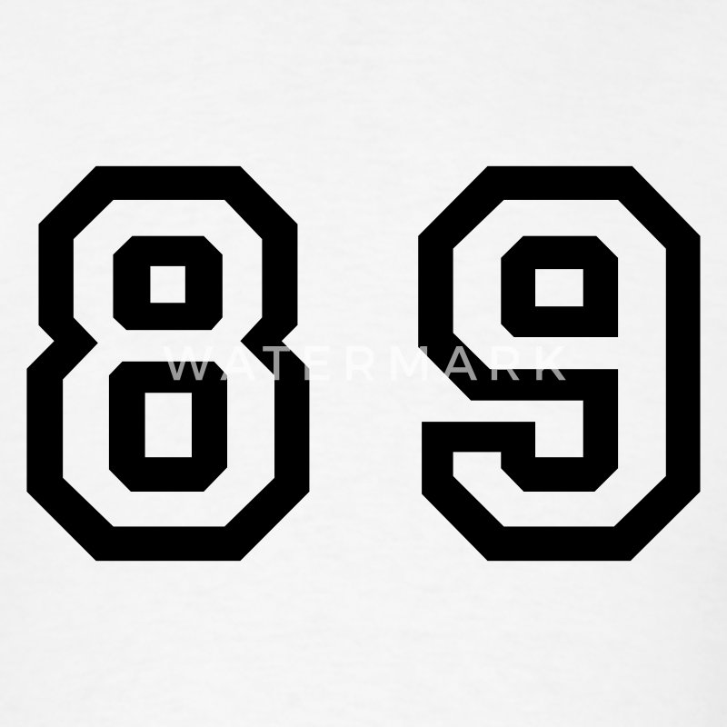 Number 89 Eighty Nine T Shirt Spreadshirt