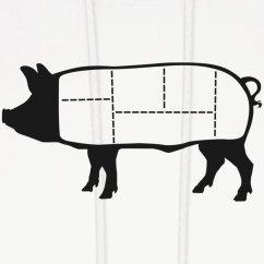 Pig Cuts Diagram 2000 Toyota Celica Gt Stereo Wiring Niftees Pork Hoodie Mens