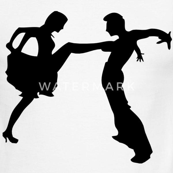 salsa dancer couple silhouette darr TShirt Spreadshirt