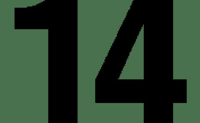 Helvetica Number 14 Tank Top Spreadshirt