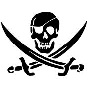 PIRATES of the CARIBBEAN T-Shirt Pirate Flag Glow in the