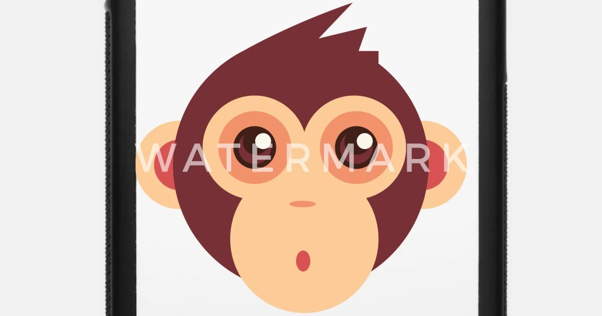 cute monkey cartoon face