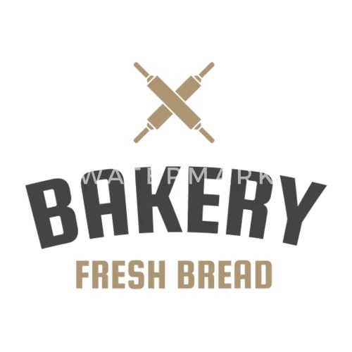Fresh Bread Bakery Shop Logo Vintage Small Buttons Spreadshirt
