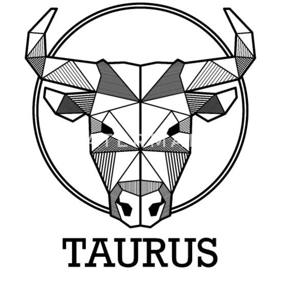 taurus zodiac sign geometric