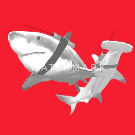 sharks with lasers men