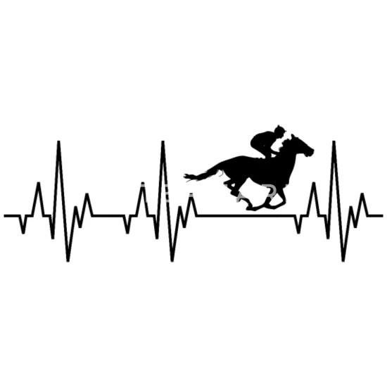 Heartbeat Horses Riding Harness Racing Equitation Men's T
