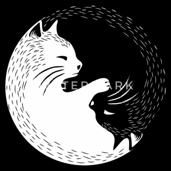 cat yin yang bandana
