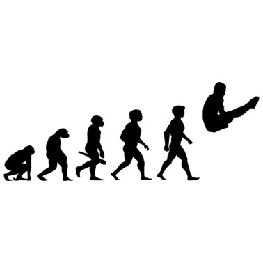Funny Evolution Diver T-shirt Men's V-Neck T-Shirt