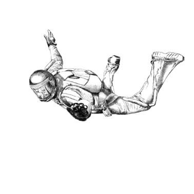 Funny Parachuting Gift Idea Men's Premium T-Shirt