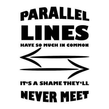 Parallel Lines gift for Math Teachers Women's Vintage