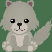 wolf cute cub cartoon kawaii shirt designs grey