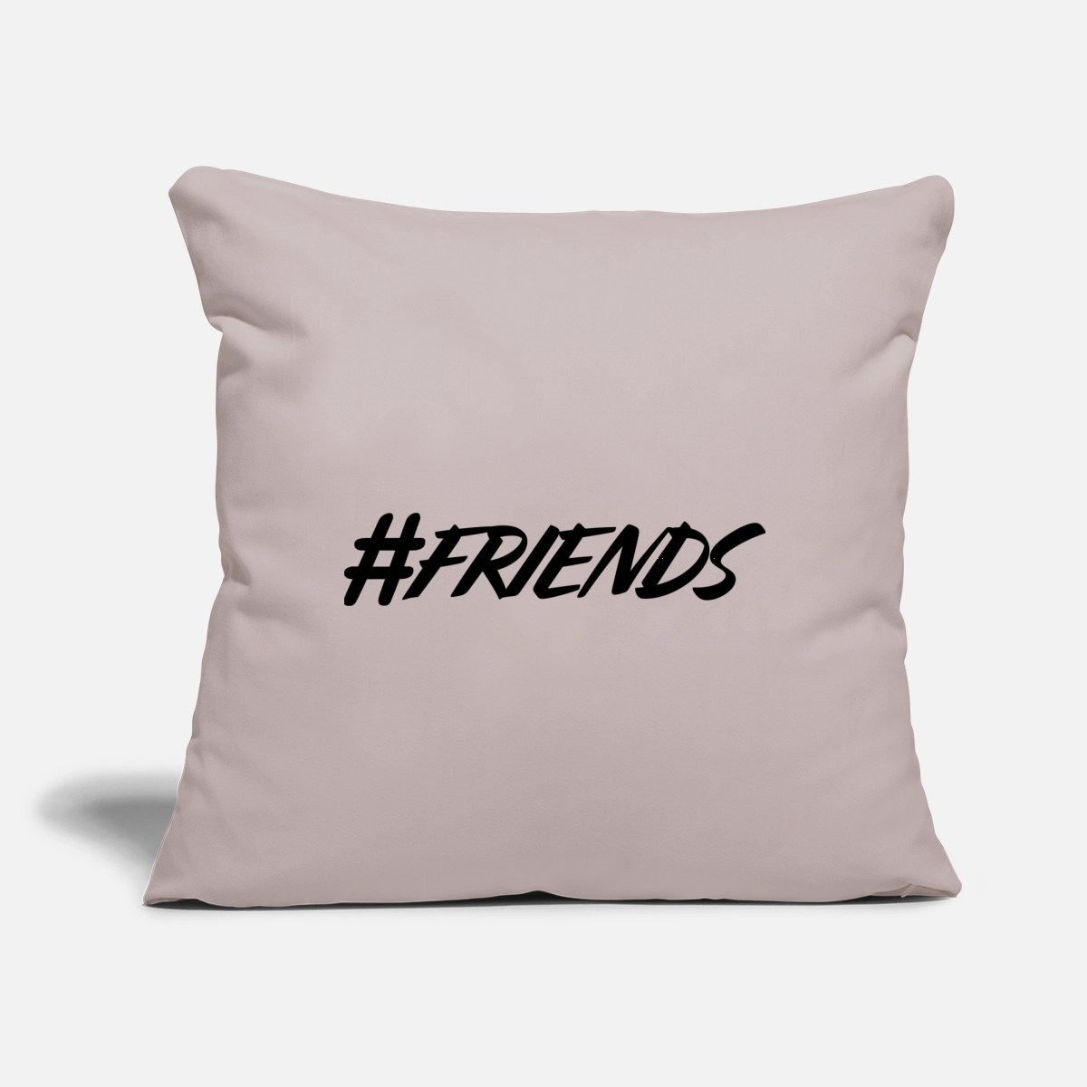 hashtag hash for story stories story friends throw pillow cover 18 x 18 light taupe