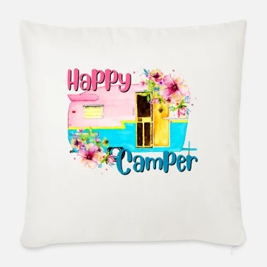 happy camper mouse pad white