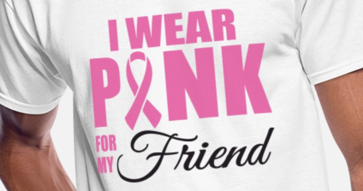 Cancer I wear pink for my friend cancer Men's 50/50 T